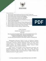 SE HK-MENKES-31-I-2014 Pelaksanaan Standar Tarif Pelayanan Kesehatan