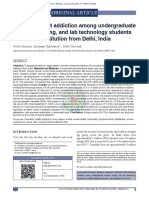Risk of internet addiction among undergraduate medical, nursing, and lab technology students of a health institution from Delhi, India