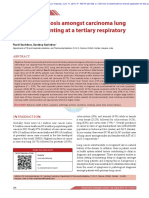 Delay in diagnosis amongst carcinoma lung patients presenting at a tertiary respiratory centre
