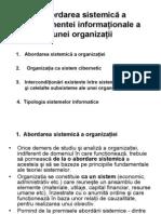 C.4-Abordarea Sistemica a Componentei Information Ale a Unei Organizatii
