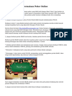 Cara Memenangi Permainan Poker Online