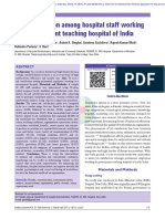 Job satisfaction among hospital staff working in a Government teaching hospital of India