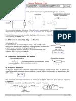 Fonction Alimenter Grandeurs Electriques N.L.techNIQUE PROF S.charI
