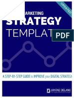 Digital Marketing Strategy Template Juntae Delan