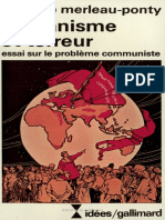 Humanisme Et Terreur introduction