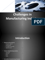 Challenges in Manufacturing Industry