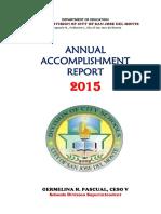 2015 Annual Accomplishment Report - Renato L. Ignacio