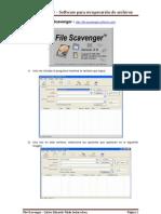 File Scavenger - Software para recuperación de archivos