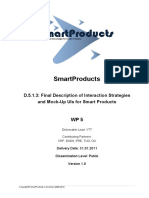 SmartProducts -Interaction Strategies
