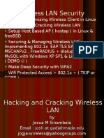 Presentation II Hacking and Cracking Wireless LAN