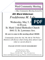 6th Ward Monthly Meeting May 2010 on crime