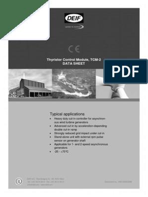 DEIF TCM 2 Datasheet 4921240329uk | Electric Generator