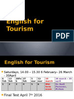 English for Tourism 1st meeting