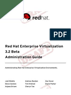 Red Hat Enterprise Virtualization 3 2 Beta Administration Guide
