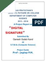 Digital signature prjct.doc
