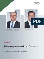 Reden Audi Jahrespressekonferenz 2016