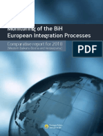 """Comparative Report for 2010 under the Project """"Monitoring of the BiH European Integration Processes"""""""