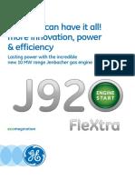 GE J920FleXtra Broschüre en 2015