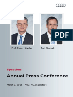 Speeches Annual Press Conference 2016