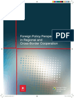 Foreign Policy Perspectives in Regional and Cross-Border Cooperation