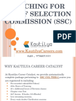 Online coaching for SSC (Staff Selection Commission) - Kautilya Careers