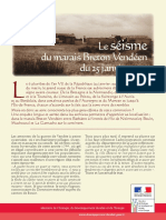 Seisme Marais Breton 1799