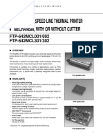 thermal Printer head ftp-642mcl001