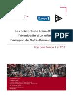 Les habitants de Loire-Atlantique et l'éventualité d'un référendum sur l'aéroport de Notre-Dame-des-Landes
