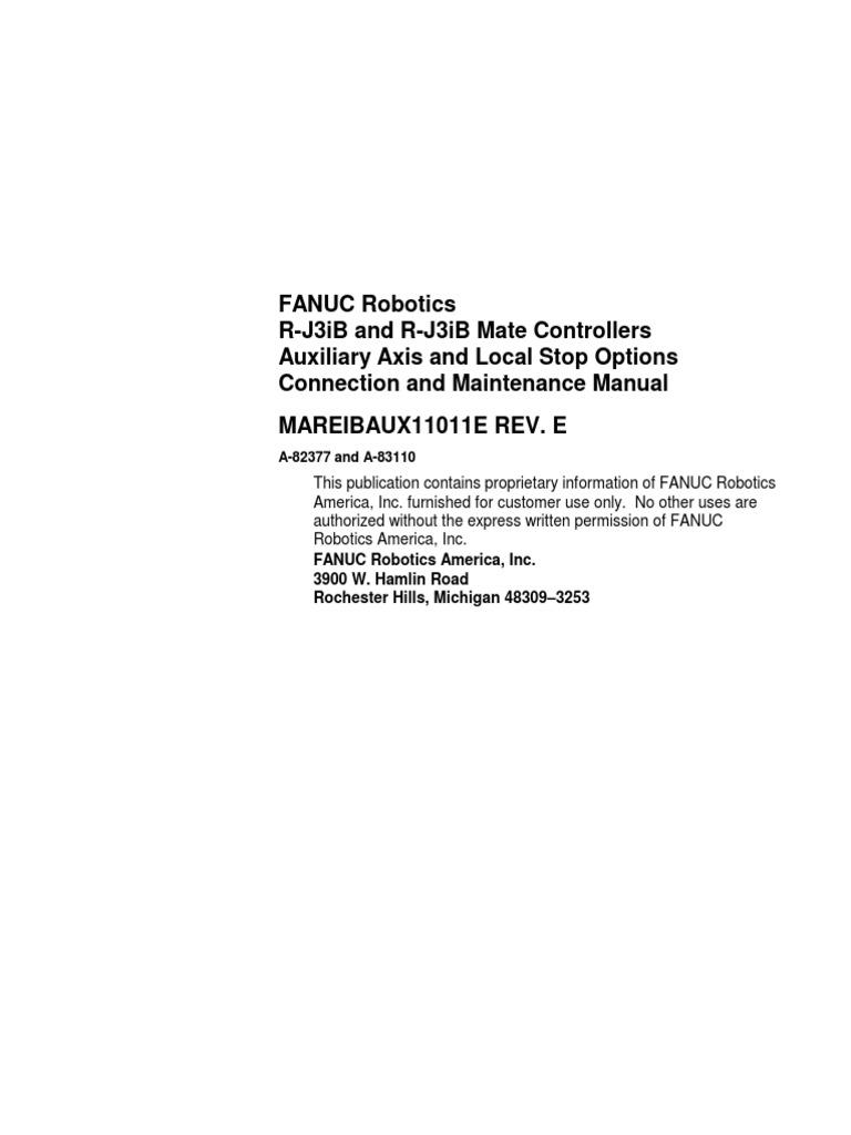 aux axis manual fanuc safety robot rh es scribd com  fanuc rj3ib maintenance manual