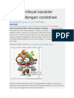 Cara Membuat Karakter Cartoon Dengan Coreldraw