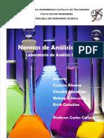 Normas de Analisis Quimico Laboratorio de Analisis Industrial