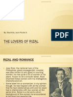 Rizal's Lovers Ppt