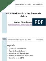ABD5501 01 Sem 01 Introduccion a Las Bases de Datos