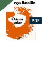 Georges Bataille, O Anus Solar