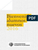 Bienvenida Alumnos Nuevos 2016