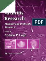 Arthritis Research Volume 2 Methods and Protocols