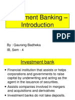 Investment Banking - Introduction