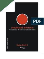 LIBRO - Birrell - Simplicidad Inherente - Fundamentos de La Teoria de Restricciones
