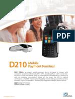 Especificaciones PAX D210