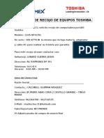 Coldwell Guzman Vasquez - Solicitud de Recojo de Equipos Toshiba