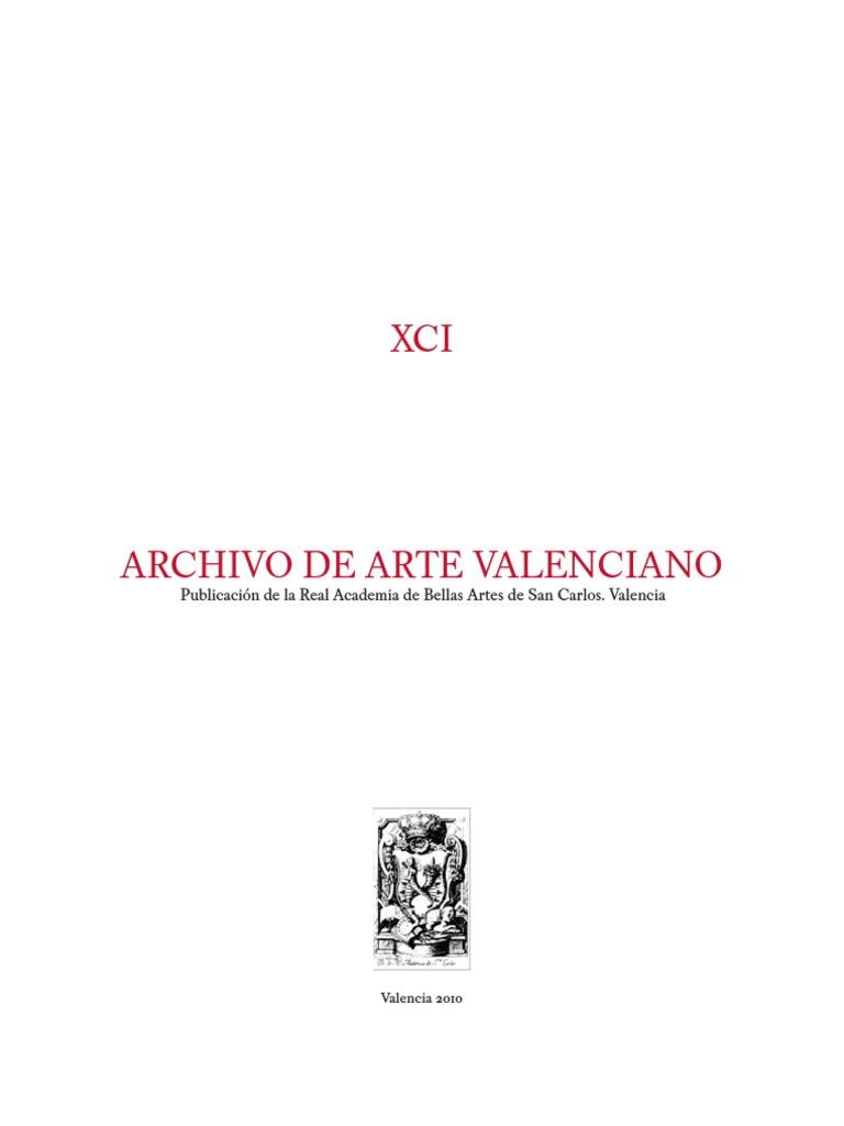 Archivo de Arte Valenciano 2010