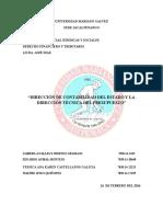 Dirección de Contabilidad Del Estado y Dirección Técnica del Presupesto
