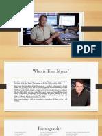 Tom Myers - Sound Designer Profile