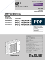 Service Manual PUHZ P100 140VHA
