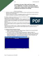 Tema 21. Procesadores de Texto. Word 2003