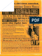 Flyer from ACT UP demonstration in Harrisburg