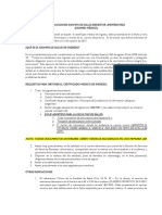 Instrucciones Examen Medico