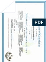IBOEHS 30 Hours OSHA Certificate