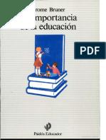 LIBRO - Bruner - La Importancia de La Educación
