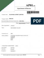 Eleonora Sports Appointment of Massimo Cellino